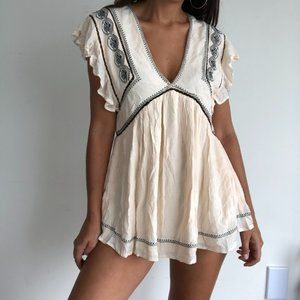 NWT Free people falling water embroidered tunic
